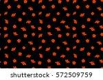 hibiscus flowers seamless... | Shutterstock . vector #572509759