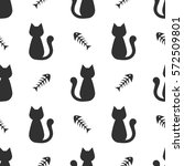 Background With Black Cat And...