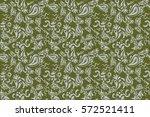 damask seamless floral... | Shutterstock . vector #572521411