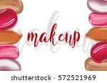 cosmetic liquid foundation and... | Shutterstock .eps vector #572521969