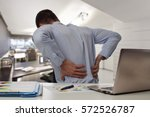 Business Man With Back Pain An...