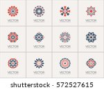 geometric logo template set.... | Shutterstock .eps vector #572527615