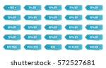 isolated shopping tags set.... | Shutterstock .eps vector #572527681