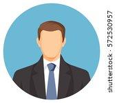faceless businessman avatar.... | Shutterstock .eps vector #572530957