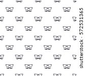pattern with hipster mustache... | Shutterstock .eps vector #572531365