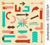 set of arrows and directions... | Shutterstock .eps vector #572532769