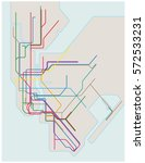 colored subway vector map of... | Shutterstock .eps vector #572533231