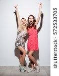 full length portrait of two... | Shutterstock . vector #572533705