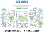 web design illustration with... | Shutterstock .eps vector #572533885