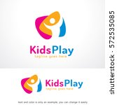 kids play logo template design... | Shutterstock .eps vector #572535085
