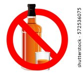 no drinking sign prohibiting... | Shutterstock .eps vector #572536075