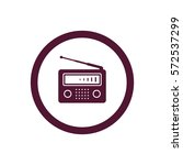 radio icon  isolated. flat ... | Shutterstock .eps vector #572537299