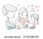 happy family. mother father and ...   Shutterstock .eps vector #572538259