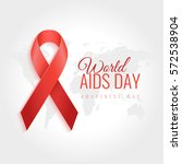 aids awareness ribbon... | Shutterstock .eps vector #572538904