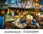 food truck festival blurred on... | Shutterstock . vector #572543899