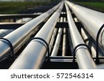 silver pipeline system in crude ... | Shutterstock . vector #572546314