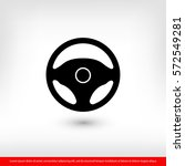 steering wheel icon. one of set ... | Shutterstock .eps vector #572549281