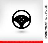 steering wheel icon. one of set ... | Shutterstock .eps vector #572549281