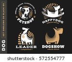 set logo illustration dog  pet... | Shutterstock .eps vector #572554777