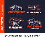 rc toys transport logo set  ... | Shutterstock .eps vector #572554954
