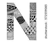 zentangle stylized alphabet  ...   Shutterstock .eps vector #572559085