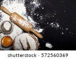 ingredients and utensils for... | Shutterstock . vector #572560369