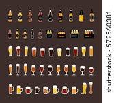 beer bottles and glasses... | Shutterstock .eps vector #572560381