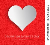 valentine's day card with red... | Shutterstock .eps vector #572561617