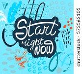 conceptual hand drawn phrase...   Shutterstock .eps vector #572563105
