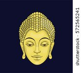portrait of buddha. golden... | Shutterstock .eps vector #572565241