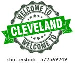 cleveland. welcome to cleveland ... | Shutterstock .eps vector #572569249