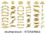 ribbon vector icon set on white ... | Shutterstock .eps vector #572569861