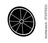 lemon slice icon. | Shutterstock .eps vector #572570221
