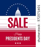 presidents day sale banner with ... | Shutterstock .eps vector #572571601