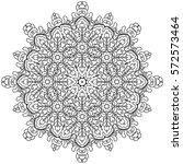 boho style flower mandala.... | Shutterstock .eps vector #572573464