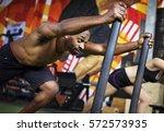 active people sport workout... | Shutterstock . vector #572573935