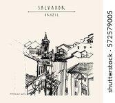 salvador  bahia  brazil  south... | Shutterstock .eps vector #572579005