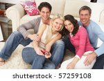 group of  friends looking at... | Shutterstock . vector #57259108