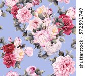 seamless floral pattern with...   Shutterstock . vector #572591749