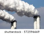 smoke emission from factory... | Shutterstock . vector #572596669