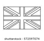 Uk Flag  England Symbol Outlin...