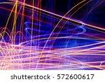 beautiful abstract futuristic... | Shutterstock . vector #572600617