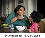 african descent family house... | Shutterstock . vector #572601655