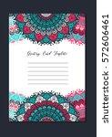 mandala vintage template card...   Shutterstock .eps vector #572606461