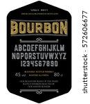 typeface. label. bourbon... | Shutterstock .eps vector #572606677