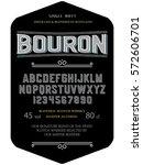 font.typeface. script. bourbon  ... | Shutterstock .eps vector #572606701