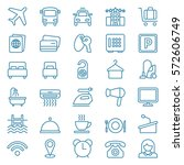 linear web icon set of hotel... | Shutterstock .eps vector #572606749