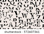 seamless background  letters ... | Shutterstock .eps vector #572607361