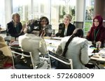 diversity people talk... | Shutterstock . vector #572608009