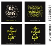 set of funky cards for... | Shutterstock .eps vector #572608354